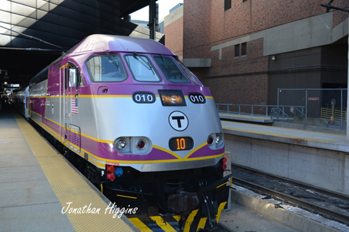 CapeFlyer MBTA Engine #010 at South Station