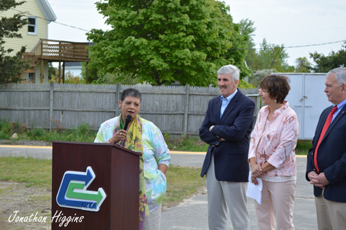 MBTA General Manager Dr Beverly A. Scott at Buzzards Bay