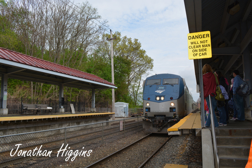 Amtrak's Downeaster engine #204 in Haverhill, MA