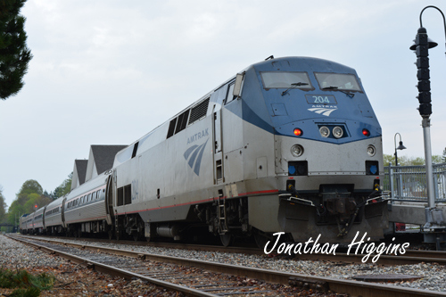 Amtrak's Downeaster in Brunswick, ME