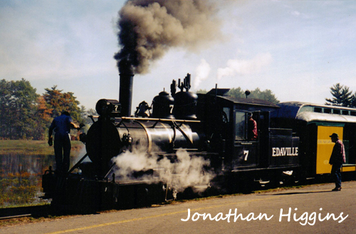 Edaville Engine No. 7 at the station