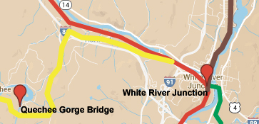 White River Junction Railroad Map