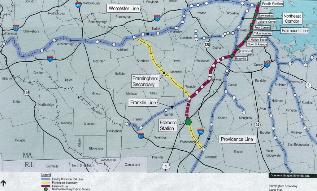 Proposal for a MBTA Line for Foxboro, MA