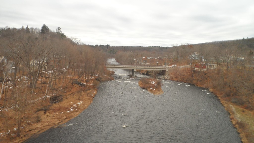 Crossing the Mill River in Miller's Falls, Massachusetts