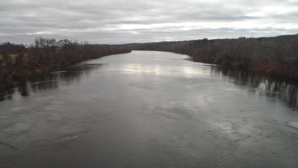 Crossing the Connecticut River in Northfield, Massachusetts