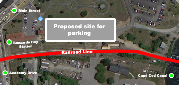 Proposed site for MBTA Parking in Buzzards Bay