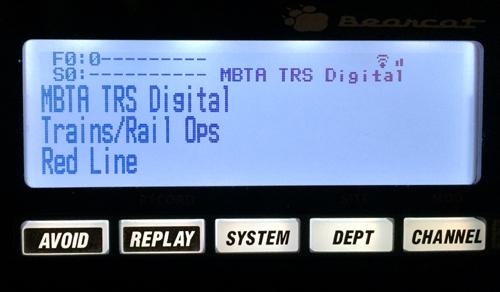 Uniden Bearcat BCD536HP MBTA