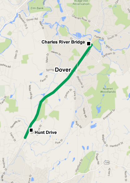 Dover Rails to Trails Map