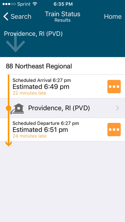 Amtrak Train Search APP